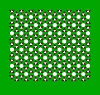 绿色背景三角形和六边形图案组成的素材