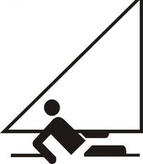 手绘体育项目滑浪风帆