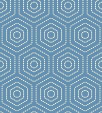 圆点形成的六边形图案
