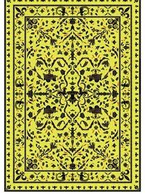 绿色底黑色卷曲纹花鸟纹神兽蛇纹构成的图案