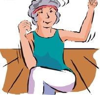 跳舞的老奶奶
