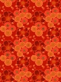 大花布料_大红色花朵花瓣图案布料