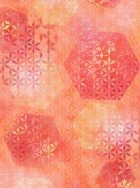 淡红色六角形六边形花纹图案素材
