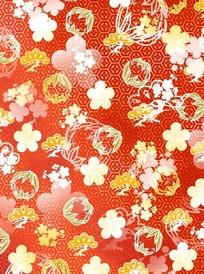 六角形图案花朵叶子