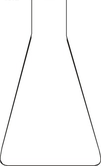 手绘锥型量筒