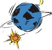 地球月亮太阳矢量图