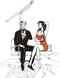 缆车上的夫妻