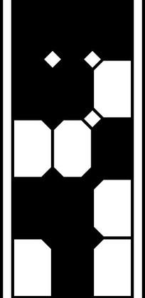 菱形三角方形构成的黑白竖框图图片