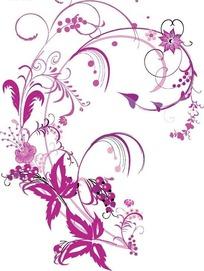 紫色卷草精美底纹