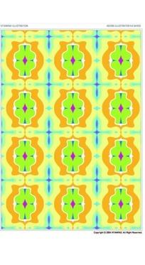 黄色亮丽规则椭圆形重复图案素材