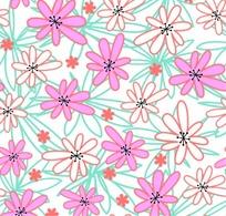 精美可爱的花朵花纹背景