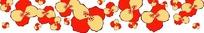 手绘红色和黄色蝴蝶兰图案