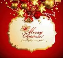 精美圣诞节红色背景