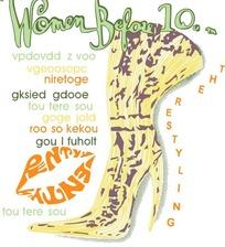 女性高跟鞋创意广告设计