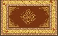 精美欧式方形古典花纹