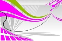 矢量粉色箭头灰色底图