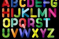 彩色塑胶效果英文字母设计