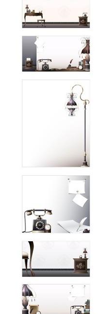 办公室矢量立体设计素材