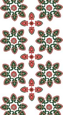 绿色和红色重复的图案构成的背景素材