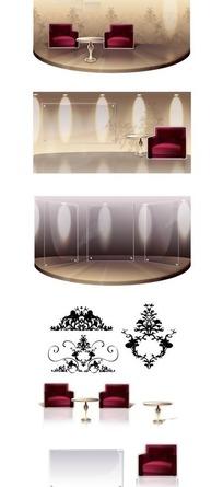 矢量客厅背景设计素材