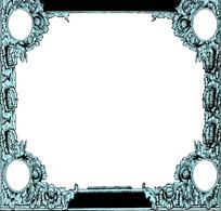 矢量欧式复古花纹花边素材