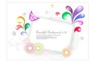 长方形边框和彩色花纹和圈圈