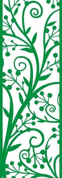 紫色西瓜橙子精美植物图案 绿色植物图案 古典雕花植物图案 一张黑白