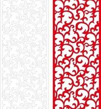 红色长方形里的弯曲花纹和线描图