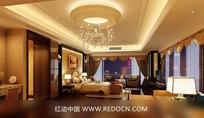 欧式华丽卧室效果图