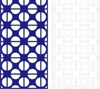 宝蓝色简单半圆组合花纹图案