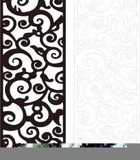 黑色古典镂空花纹矢量图