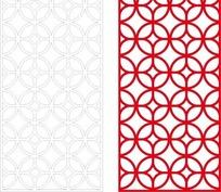 红色中式铜钱图案镂空花纹