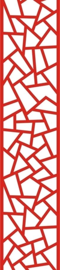 吉祥结窗格纹构成的红绿两个镂空竖图素材