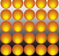艺术插画明黄色时尚的圆圈圆点矩阵花纹