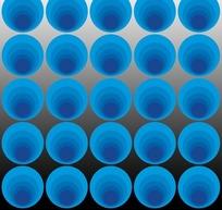艺术插画时尚明蓝色的圆圈圆点矩阵花纹