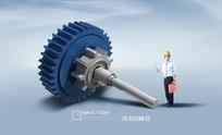 齿轮轴承与维修工人