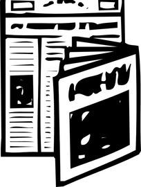 手绘报纸和杂志
