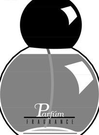 黑色圆头玻璃香水瓶