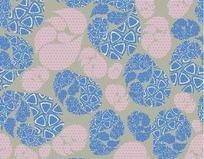 灰色背景上的蓝色和粉色椭圆形图案