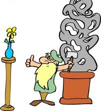 利用花瓶做校准的石雕大胡子石匠装修(编号:1小型下载工程施工组织设计图片