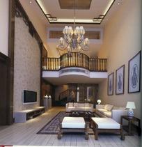 欧式精致家复式公寓效果图