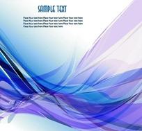 创意炫丽紫蓝色曲线名片设计