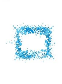 蓝色小圆点组成的矩形