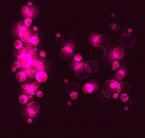 炫丽紫色气泡光影背景