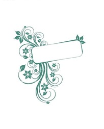 绿色精美卷草花纹边框