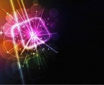 矢量彩色的光斑光晕效果背景图