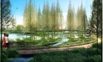 猪笼河滨水带景观