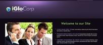 HTML+CSS特色主题网 紫色风格