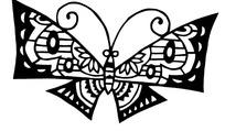 剪纸—美丽的黑色蝴蝶