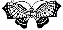 剪纸—漂亮的黑色蝴蝶